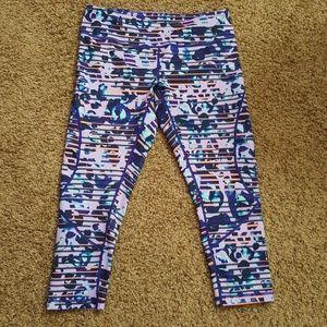 Zella size medium cropped purple leggings